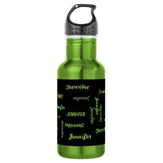 Botella de agua, personalizado, repitiendo el
