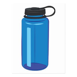 Botella de agua postales