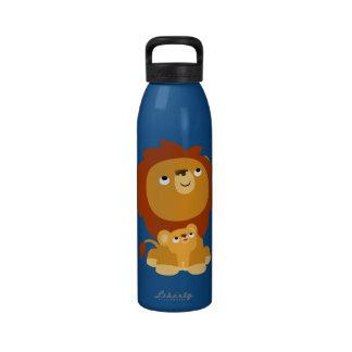 Botella de agua protectora del león del papá del d