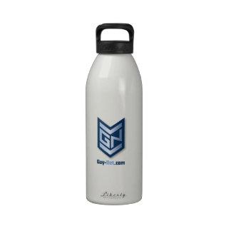Botella de agua QSD del logotipo de GuyNet
