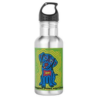 Botella de agua que ofrece arte del mascota de