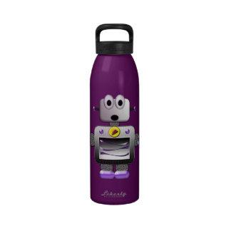 Botella de agua retra linda de la púrpura del robo