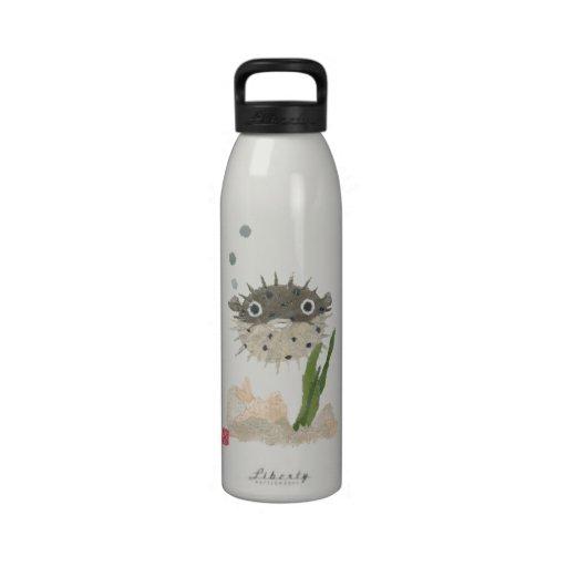 Botella de agua reutilizable de los pescados hinch