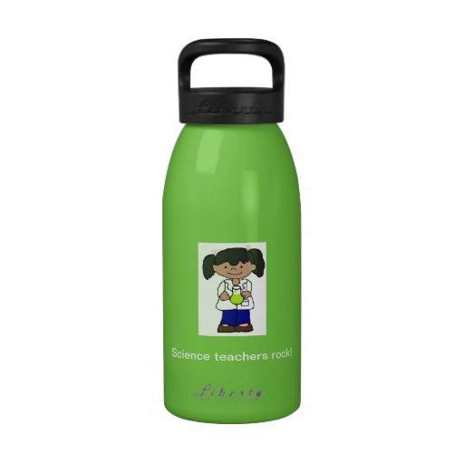 Botella de agua - roca de los profesores de cienci