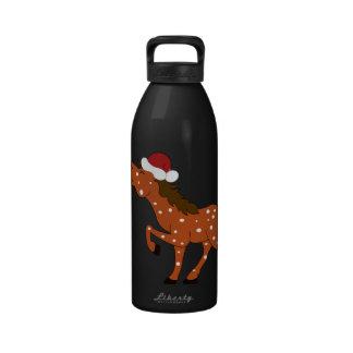 Botella de agua roja del caballo del Appaloosa del