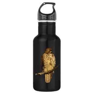 Botella de agua Rojo-Atada del halcón 18oz