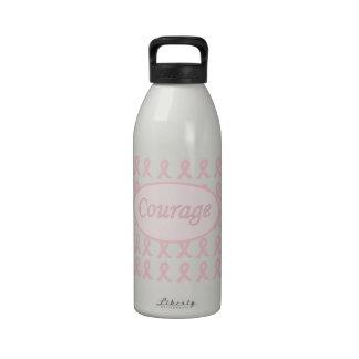 Botella de agua rosada del cáncer de pecho de la c