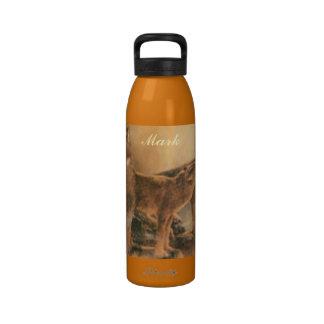 Botella de agua salvaje personalizada de los lobos