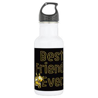 Botella de agua siempre Negro-y-Amarilla del gato