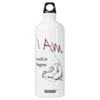 Botella de agua. , Soy un trabajo en Progres