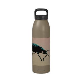 Botella de agua suave del arte pop del escarabajo