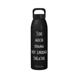 Botella de agua temática del teatro
