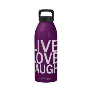 Botella de agua viva de la risa del amor 32 onzas