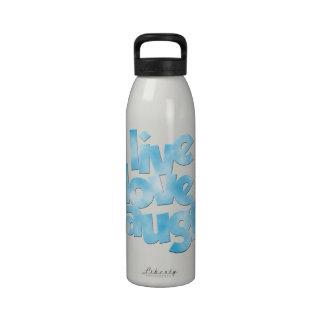 Botella de agua viva de la risa del amor