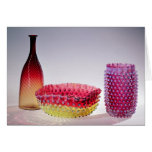 Botella de Amberina, Nueva Inglaterra Glass Compan Tarjetas
