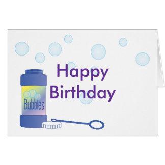 Botella de burbujas tarjeta de felicitación