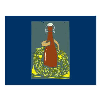 Botella de cerveza beer bottle postal