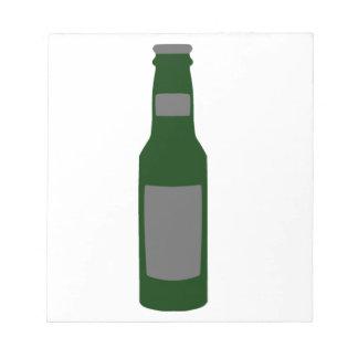Botella de cerveza bloc de notas