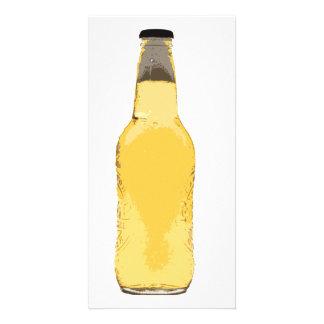 Botella de cerveza tarjetas fotográficas