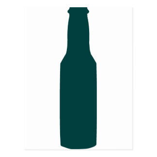 Botella de cerveza tarjetas postales