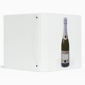 """Botella de Champán con la etiqueta en blanco Carpeta 1"""""""