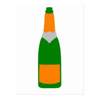 Botella de Champán Postal