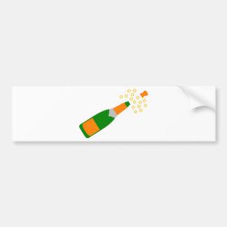 Botella de Champán y corcho que hace estallar Pegatina Para Coche