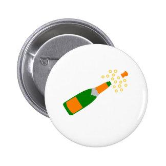 Botella de Champán y corcho que hace estallar Pin Redondo 5 Cm