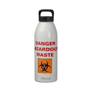 Botella de consumición de los desechos peligrosos botellas de agua reutilizables