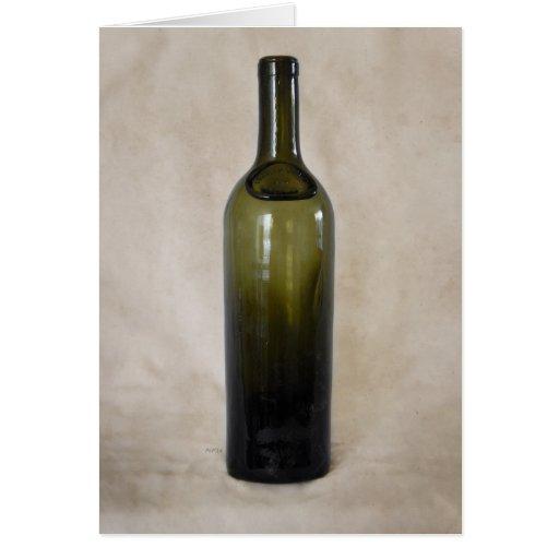 Botella de cristal del vintage felicitaciones