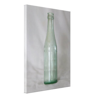 Botella de cristal del vintage impresiones de lienzo