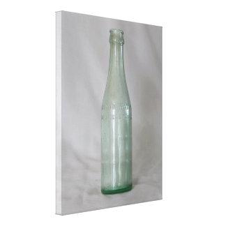 Botella de cristal del vintage impresion en lona