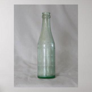 Botella de cristal del vintage posters