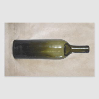 Botella de cristal del vintage rectangular pegatina