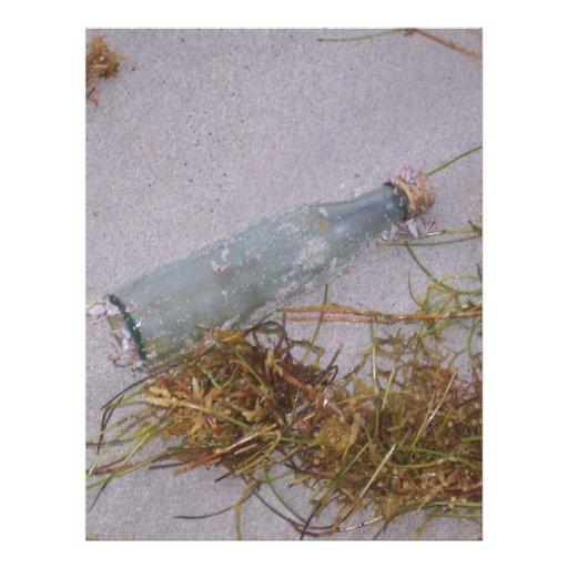 Botella de cristal plantilla de membrete