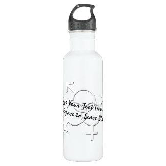 Botella de encargo del amor del orgullo gay LGBT