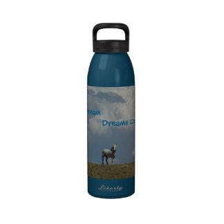 Botella de H2o - los sueños vienen verdad Botellas De Agua Reutilizables
