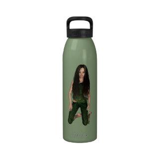 Botella de hadas de madera hermosa de la libertad  botallas de agua