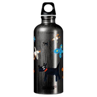 Botella de la bebida del arte: Gaviotas y perros