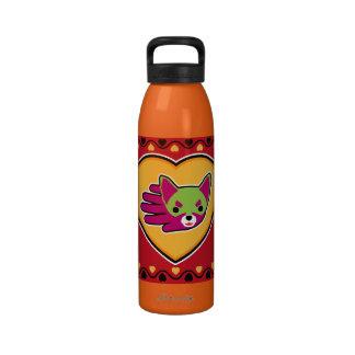 Botella de la chihuahua de la tarjeta del día de S Botella De Agua Reutilizable