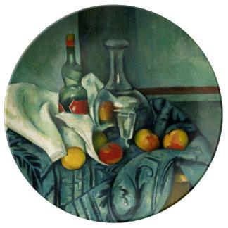 Botella de la hierbabuena (Paul Cezanne) Platos De Cerámica