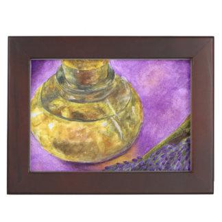 Botella de la lavanda y de aceite (Lorri Corbett) Cajas De Recuerdos