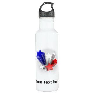 Botella de la libertad con colores de la bandera