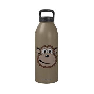 Botella de la libertad de la cara del mono del dib botellas de agua reutilizables