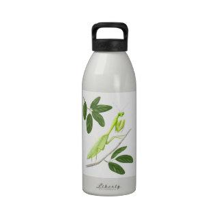 Botella de la libertad de la mantis religiosa botella de agua reutilizable