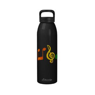 Botella de la libertad de la música botellas de agua reutilizables