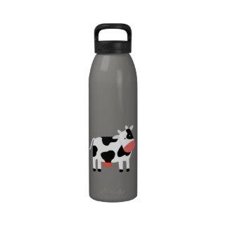 botella de la libertad de la vaca botella de agua