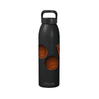Botella de la libertad de los aros de baloncesto botella de agua reutilizable