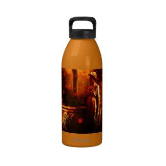 Botella de la libertad de los gatos de Halloween Botella De Agua