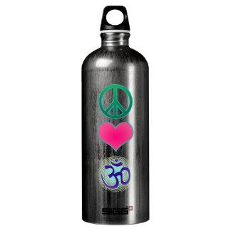 Botella de la libertad de OM del amor de la paz